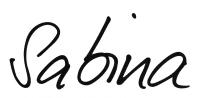 Unterschrift Sabina